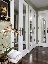 image mirrored closet. mirrored doors with trim image closet o