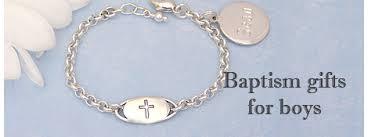 sterling baptism bracelet for boys with engraved cross