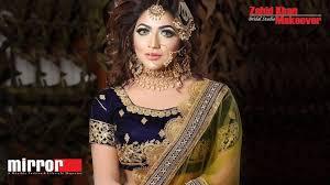 bridal makeup tips by actress badhon in zahid khan bridal makeover beauty