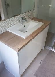single timber top vanity gold coast renovations