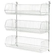 wire storage baskets for shelves wire storage baskets for shelves wall mounted wire storage