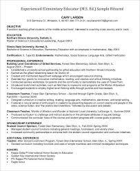 Educator Sample Resumes 100 Professional Teacher Resume Templates PDF DOC Free 52