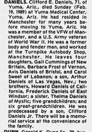Obituary for Clifford E. DANIELS (Aged 71) - Newspapers.com