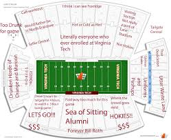 Lane Stadium Seating Chart Student Section Judgmental Seating Chart Of Lane Stadium