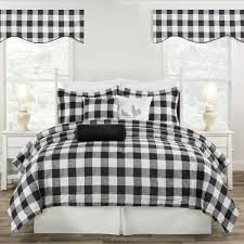 black and white buffalo check comforter