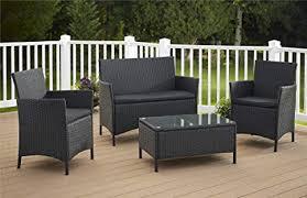 black wicker furniture. Cosco Outdoor Conversation Set Piece Black Wicker For Furniture