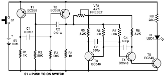 audi 80 remote central locking circuit and wiring diagram remote control transmitter circuit