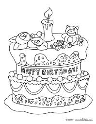 Small Picture Birthday cake coloring page Elsie Pinterest Birthday cakes