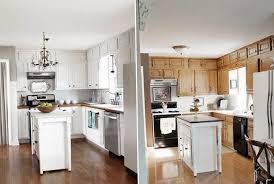 painting kitchen cabinets before and afterPaint Kitchen Cabinets White  Home Design Ideas