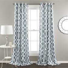 Navy Blue Patterned Curtains Mesmerizing Navy Blue Pattern Curtains Wayfair