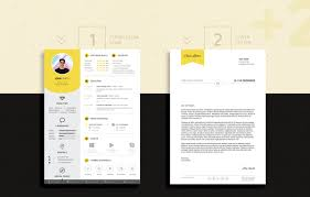 Free Professional Resume Cv Design Template With Cover Letter Psd