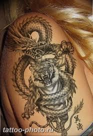 фото тату тигр и дракон 07122018 093 Tattoo Tiger And Dragon