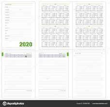 Daily Planner Template 2020 Datebook 2020 Year Diary 384 Pages Daily Planner Calendar