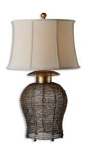 woven metal furniture. Uttermost Rickma Woven Metal Table Lamp Furniture