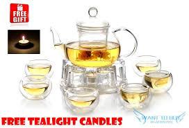 filter heat resistant glass flower teapot glass tea set 1 6 double lay