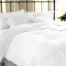 sapphire collection 100 stripe tc400 egyptian cotton white duvet cover