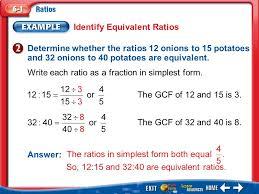 ratios in fraction form splash screen ratio talk main idea vocabulary ratio equivalent