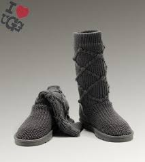 ... Bottes UGG Gris Classic Cardy 5879 pour Femme Outlet .
