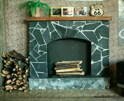 how to faux soapstone fireplace styrofoam and cardboard