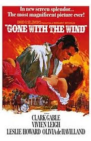 Gone with the Wind Movie Poster Clark Gable Art Print Rare | Etsy