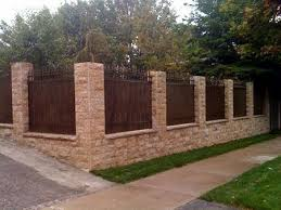 Small Picture 21 best Fences images on Pinterest Brick fence Fence ideas and