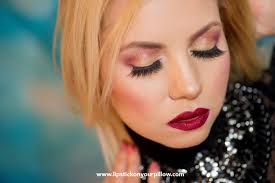 night out glam gold cranberry makeup look