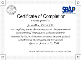 Example Of Certificate Of Completion Filename Chrysler Affilites