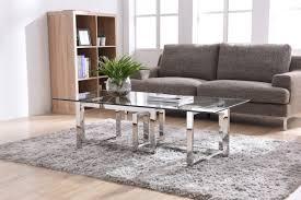 stainless steel modern furniture. modrest valiant modern glass u0026 stainless steel coffee table furniture