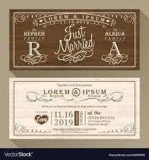 Vintage Wedding Invitation Vintage Wedding Invitation Card Border And Frame Vector Image