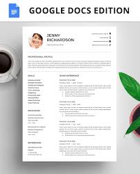 Resume Template Instant Download Resume Google Docs Cover Letter Resume Template With Photo Professional Resume Template Modern Resume
