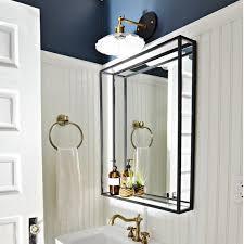 bathroom shelf mirror modern industrial