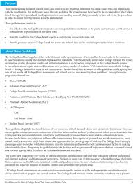Guidelines On The Uses Of College Board Test Scores And