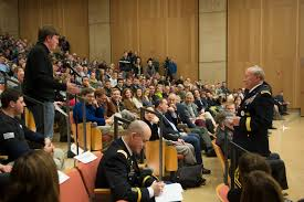 u s department of defense photo essay  an audience member asks a question of army gen martin e dempsey chairman