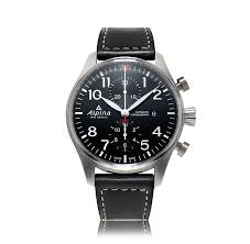 mens aviation watches the watch gallery alpina startimer pilot automatic stainless steel black dial mens watch al 725b4s6