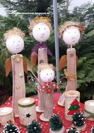 Weihnachtlicher Engel Aus Einem Holzscheit Basteln Ein