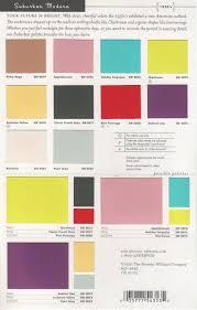 2019 Suburban Color Chart Mid Century Modern Interior Colors Sherwin Williams