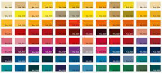 Ral Chart Ral Colour Chart 1 Cn Metalworks