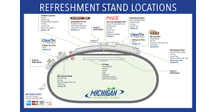 Michigan Stadium Seating Chart Row Numbers Seating Chart Maps Michigan International Speedway