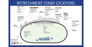 Michigan Stadium Club Level Seating Chart Seating Chart Maps Michigan International Speedway