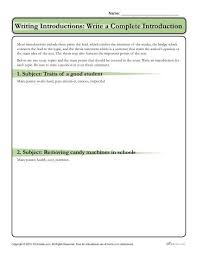 Writing Introductions How To Write An Introduction Write A Complete Introduction