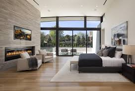 modern master bedroom with fireplace. Master Bedroom Inspiring Bedrooms From The Best Interior Designers 1 Modern With Fireplace