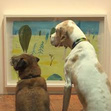 this art exhibit for dogs is exactly what the world needs