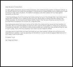 Warrant Officer Recommendation Letter Example Letter