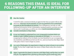 Collection Of Solutions The Perfect Interview Follow Up Letter