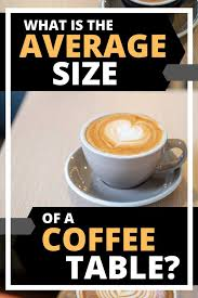 average size of a coffee table