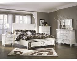 Ashley Furniture Prentice Storage Panel Bedroom Set in White