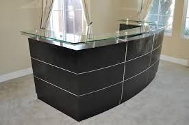 reception desks black