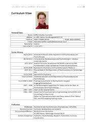 Curriculum Vitae Managing Your Personal Researcher Profile