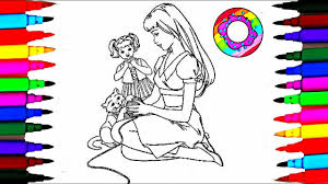 Coloring Pages Barbie And Baby Kelly Coloring Drawing Pages Videos