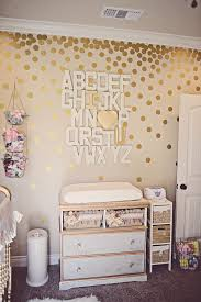 gold dots ideas wall stickers gol on rose art contemporary